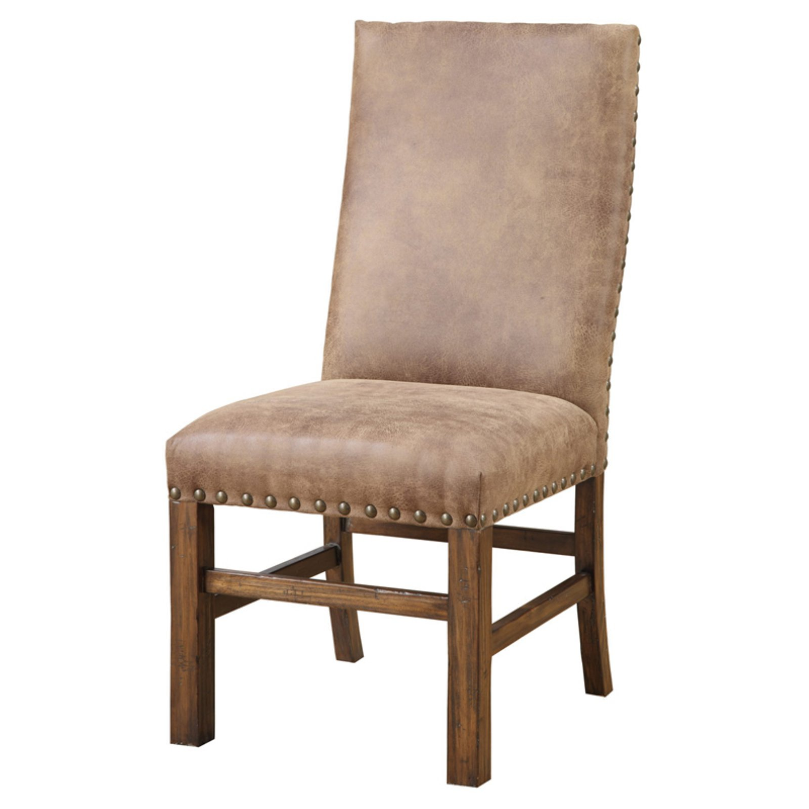 upholstered chair with nailhead trim black chairs target emerald home chambers creek side walmart com