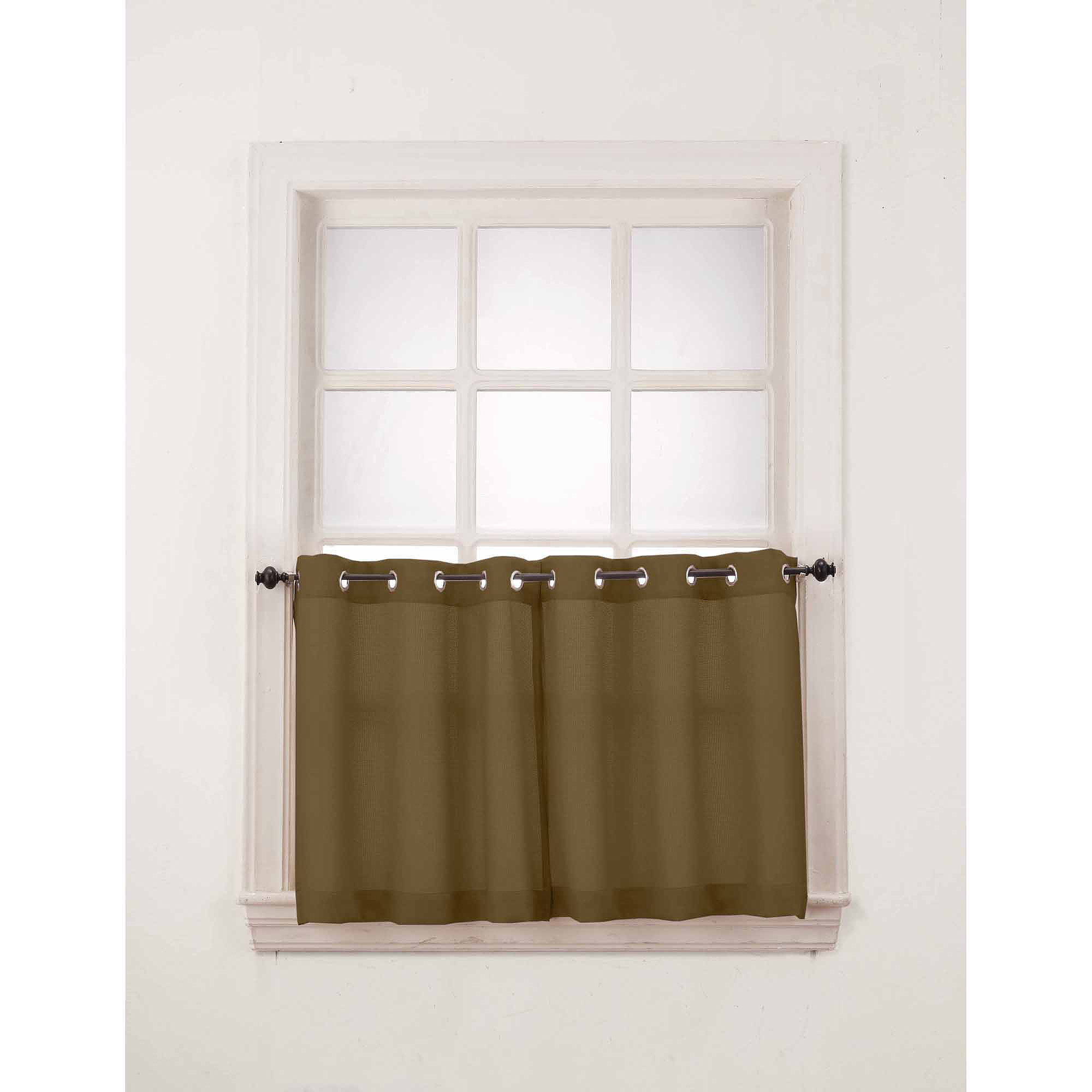 grommet kitchen curtains pull knobs for cabinets no 918 montego window curtain valance set of 2 walmart com