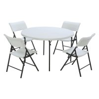 Lifetime Products 48 in. Round Fold-in-Half Table and ...