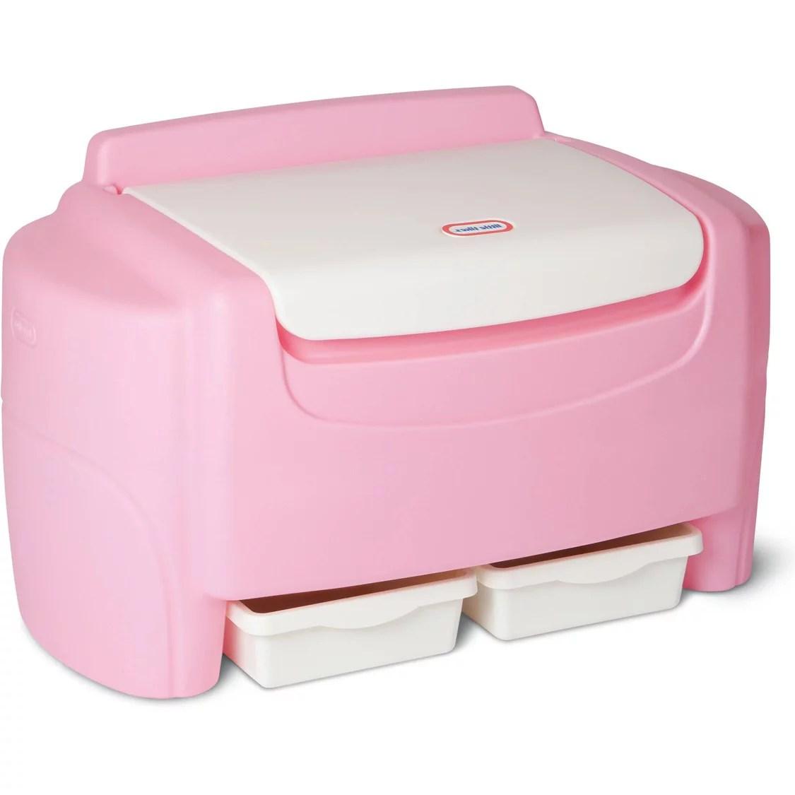 Little Tikes Pink Sort N Store Toy Chest Walmart