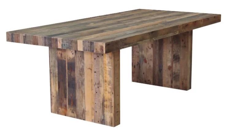 Artefac Rustic Dining Table Pine Wood Walmart Canada