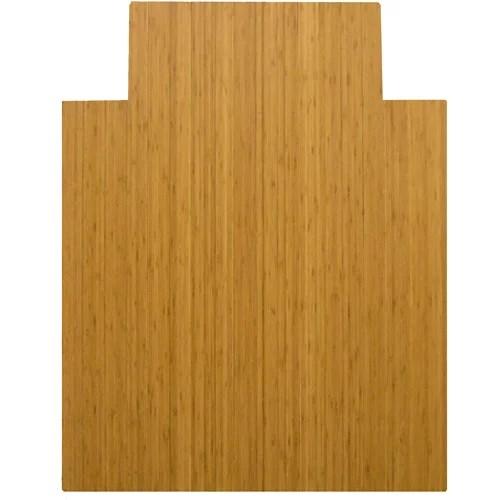 bamboo chair mat pottery barn anywhere insert anji mountain 36 x 48 for carpet and hard floor rectangular with lip medium wood walmart com