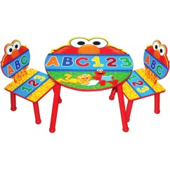 Elmo Table And Chairs Recliner Ikea Sesame Street Chair Set With Storage Walmart Com
