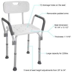 Stool Chair Adjustable Ikea Ceiling Medical Shower Seat Height Bathtub Bench Transfer Walmart Com