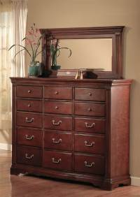 Traditional Bedroom Set - Dresser & Mirror - Walmart.com