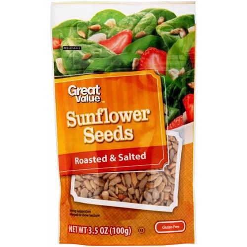 Great Value Roasted Salted Sunflower Seeds 35 oz