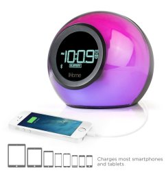 refurbished ihome ibt29bc bluetooth color changing dual alarm clock fm radio with usb charging and speakerphone certified refurbished walmart com [ 1000 x 1000 Pixel ]