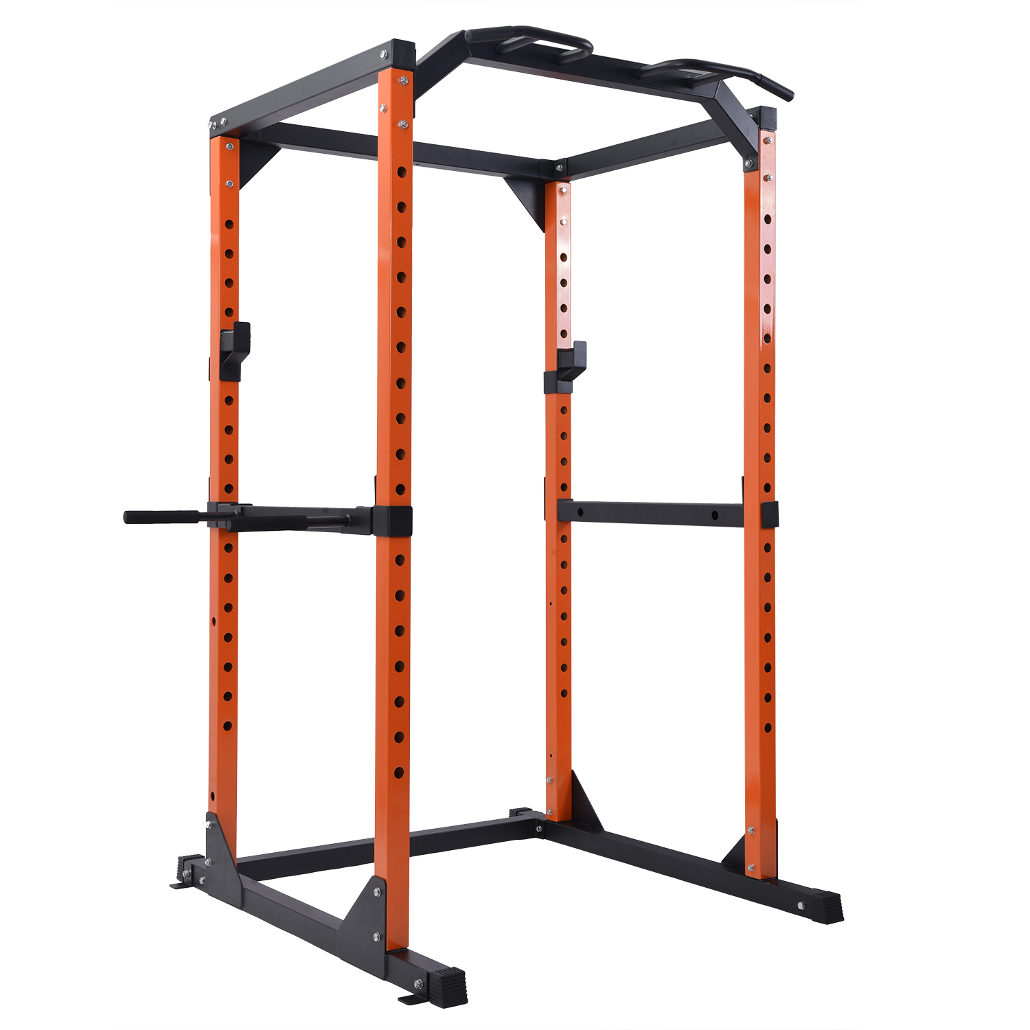 merax light commercial power rack cage with multi grip pull up bar and dip handle