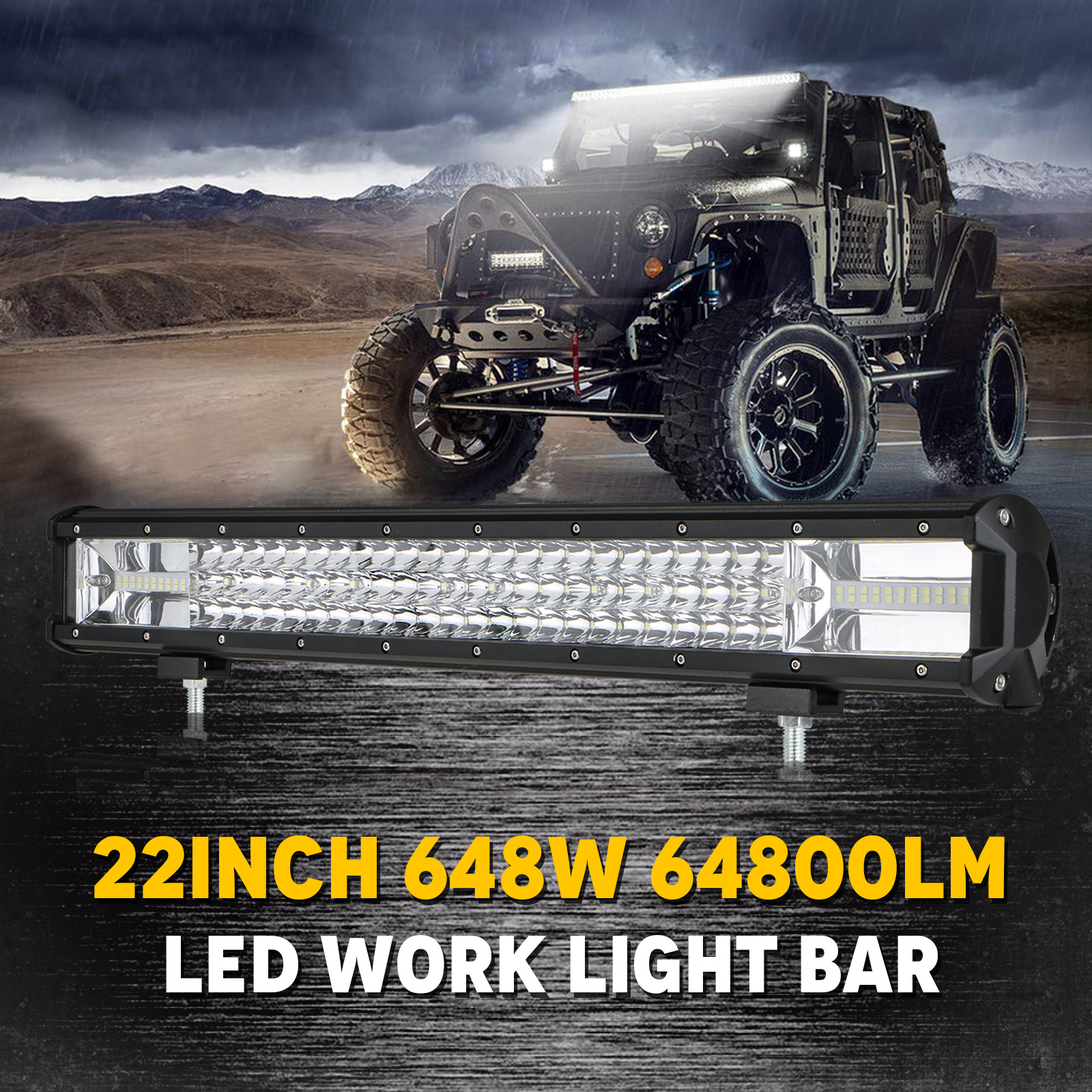 hight resolution of tsv 22inch led light bar 108w off road driving lights led work light spot flood fog lamp with wiring harness for polaris rzr toyota gmc utv truck atv jeep