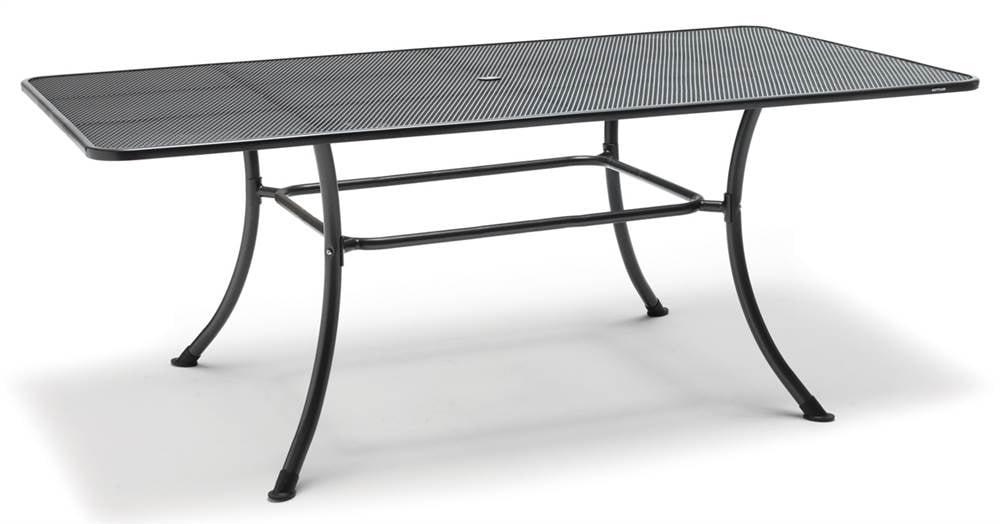 kettler rectangular mesh top steel patio dining table walmart com