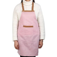 Kitchen Wear Modular Outdoor Kitchens Lowes Stripe Pattern Anti Front Patch Pocket Cooking Baking Apron Red
