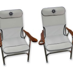Marine Deck Chairs Clear Kitchen Premium Aluminum With Cup Holder Folding White Beach Chair Grade Set Of 2 Five Oceans Bc3886 Walmart Com