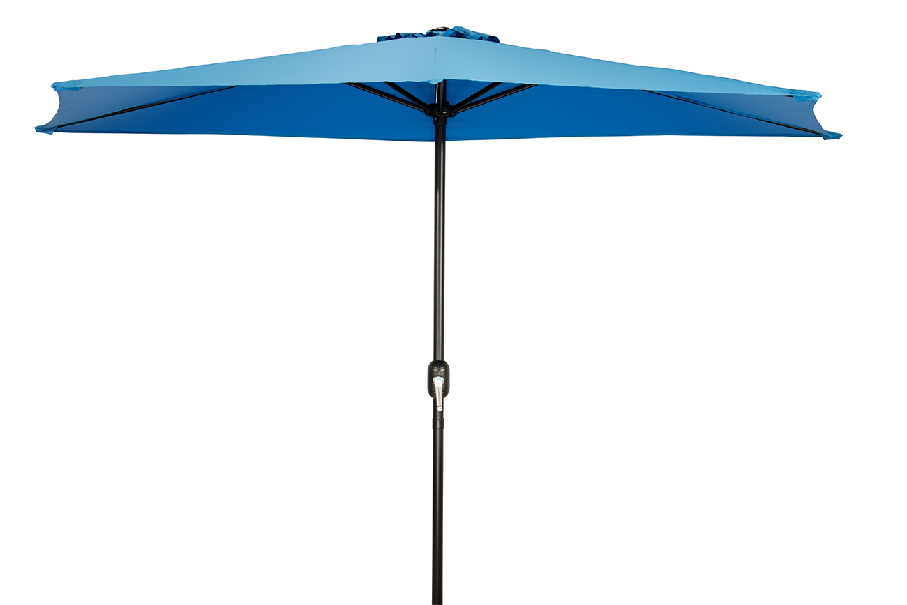 patio half umbrella 9 by trademark innovations azure