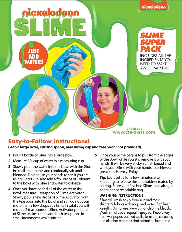 Nickelodeon Slime Kit : nickelodeon, slime, Cra-Z-Art, Nickelodeon, Slime, Super, Walmart.com