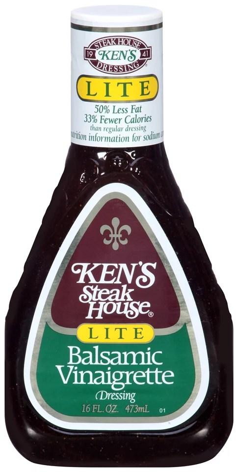 Kens Steakhouse Lite Vinaigrette Balsamic 16 Fl Oz