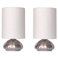 Simple Designs Gemini 2-Pack Mini Touch Lamp with Brushed ...