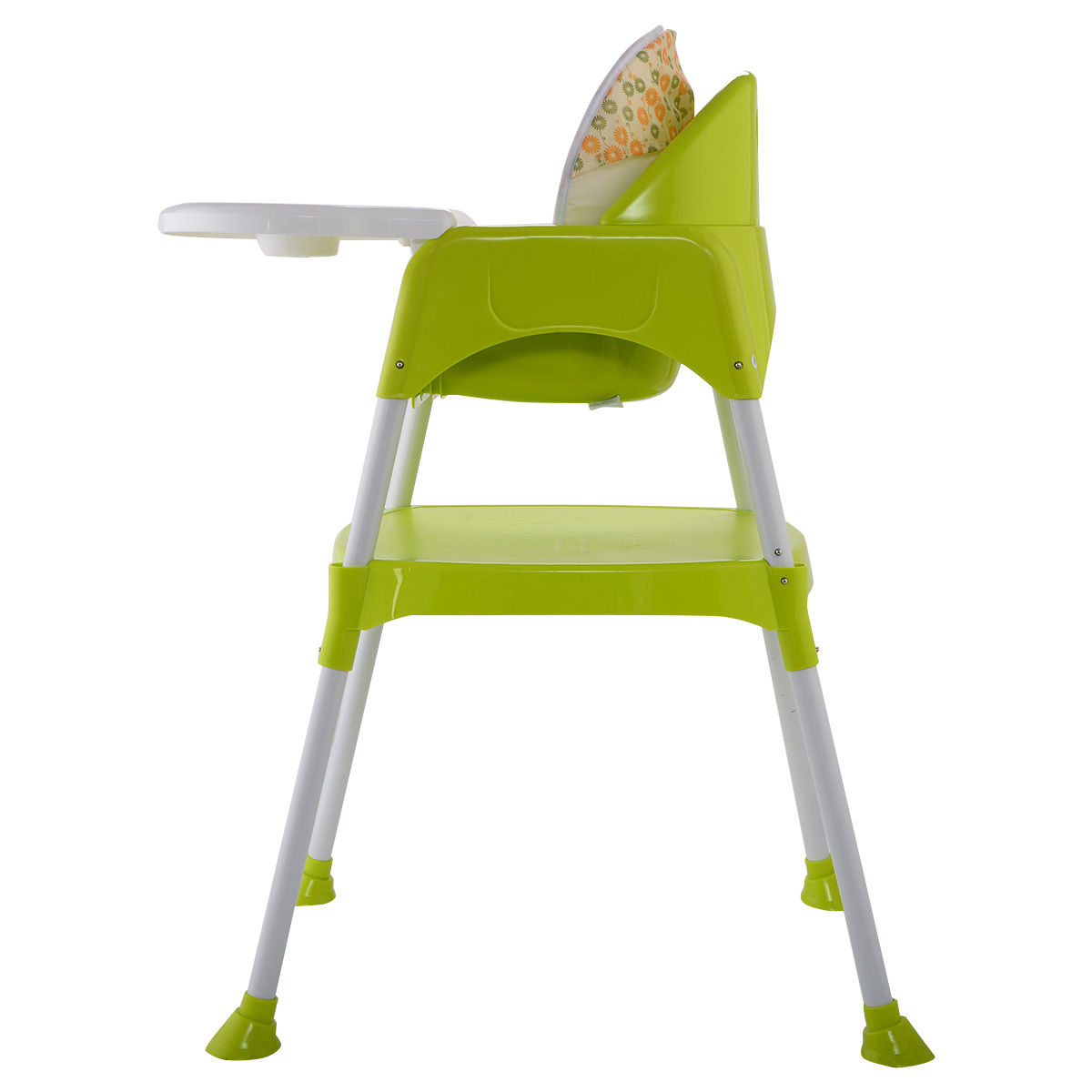 green high chair correct posture costway 3 in 1 baby convertible table seat booster toddler feeding highchair walmart com