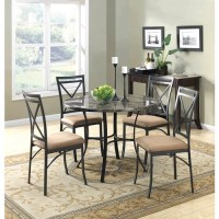 Mainstays 5-Piece Faux Marble Top Dining Set - Walmart.com