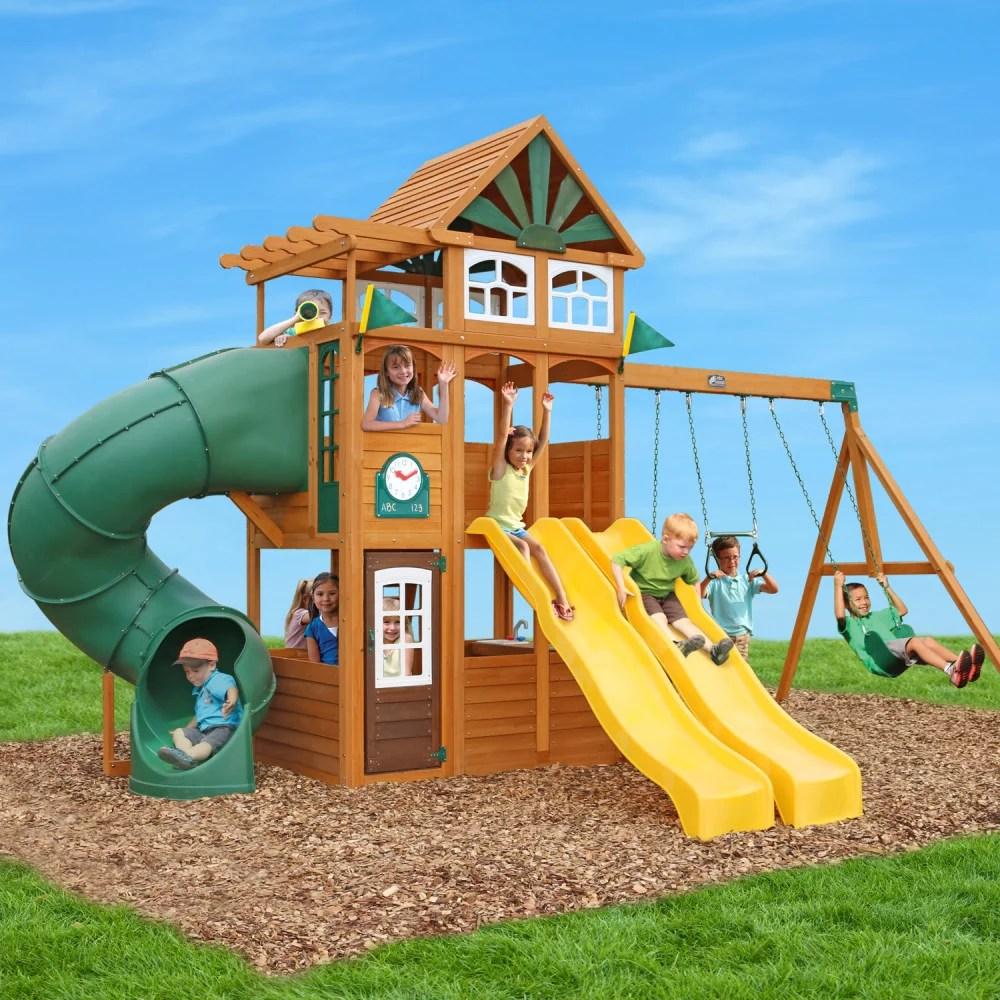 Spring Valley Deluxe Wooden Playset By Kidkraft Walmart