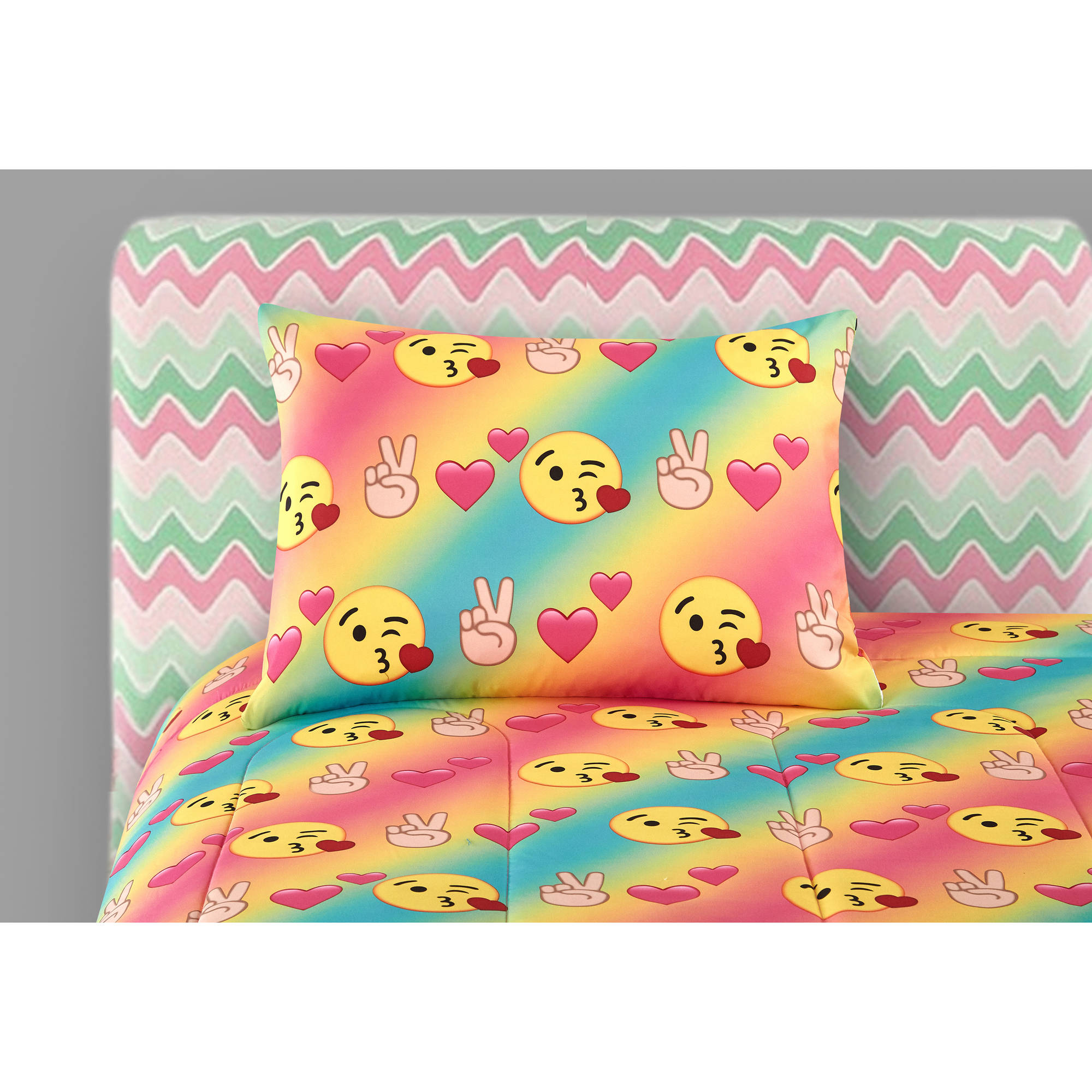 Emoji Bedding Set Queen Size Rainbow Bed In Bag Teen