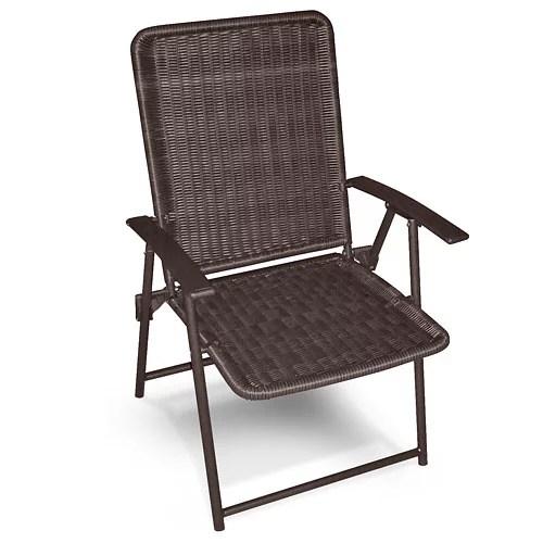 Resin Wicker and Steel Folding Chair  Walmartcom