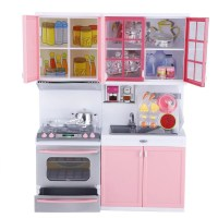 WALFRONT Mini Kitchen Pretend Role Play Toy Set Funny ...