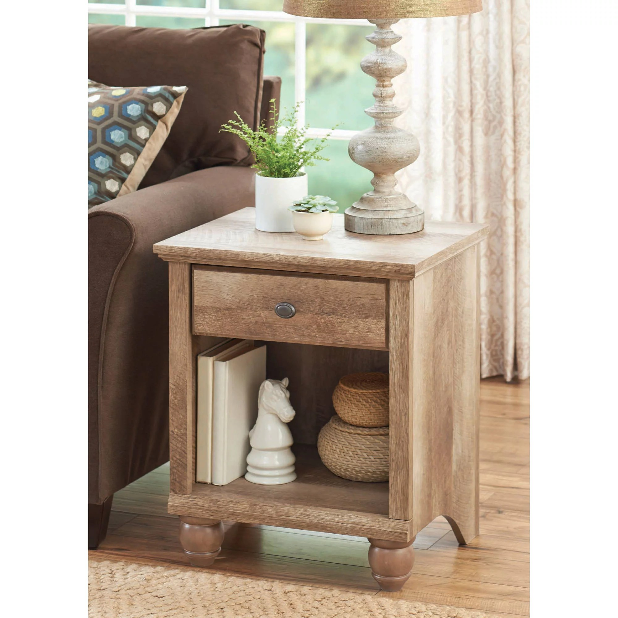 walmart living room furniture light blue grey walls better homes gardens crossmill accent table weathered finish com