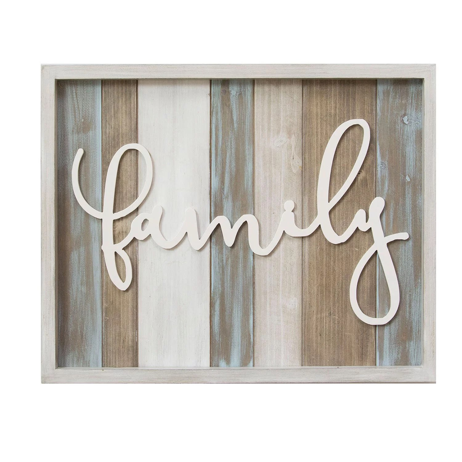 Stratton Home Decor Rustic Family Wood Wall Sign Décor