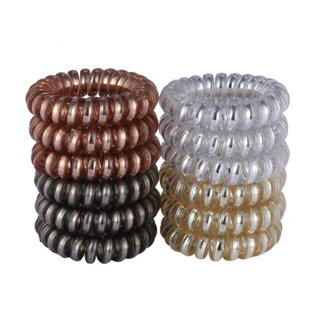 Image result for rubber spiral hair tie