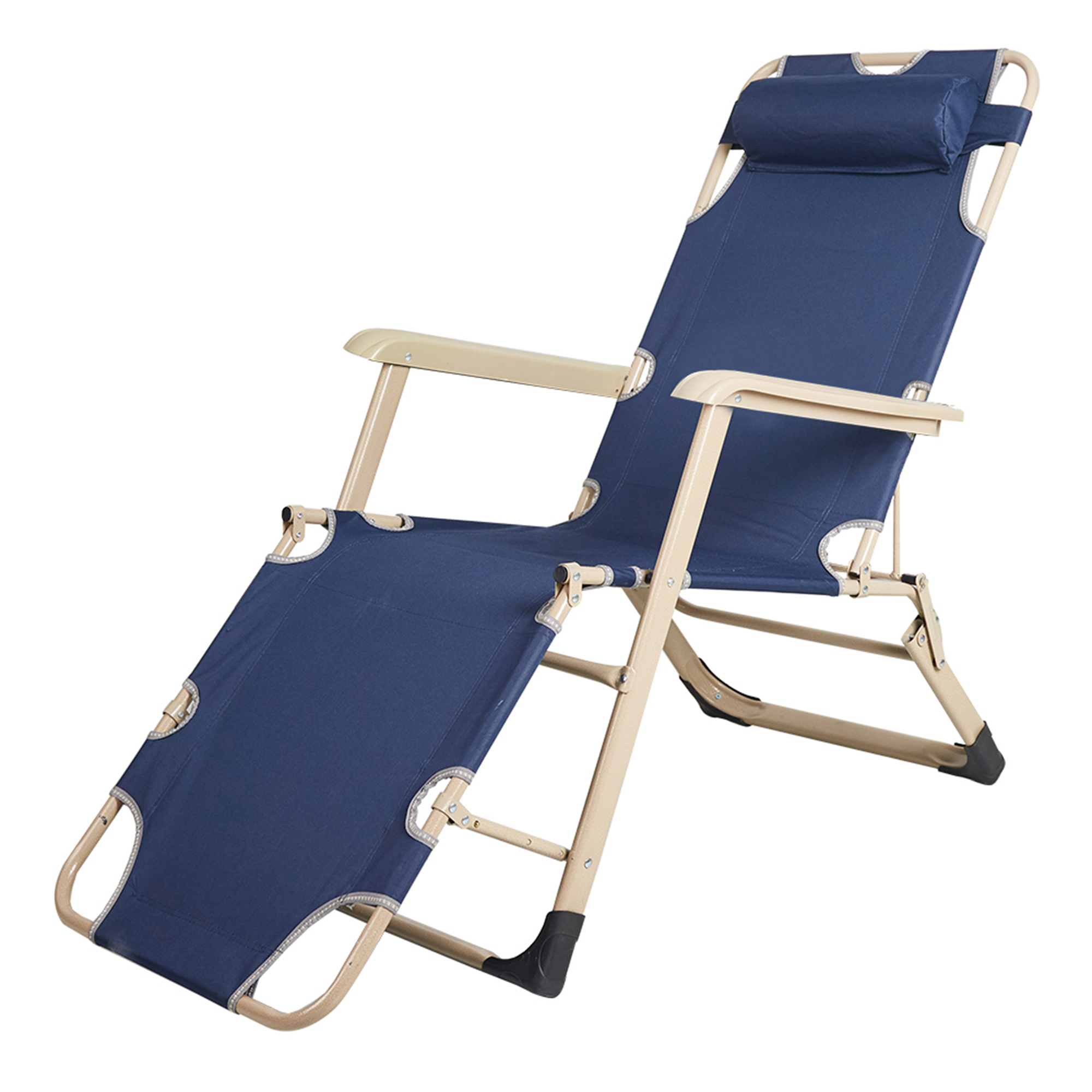 outdoor folding lounge chairs recliner for elderly karmas product reclining armchair patio beach chaise chair with pillow large walmart com