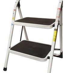 Kitchen Ladder Decorating Ideas For Stepup Heavy Duty Steel Reinforced Folding 2 Step Stool 330 Lbs Capacity Walmart Com