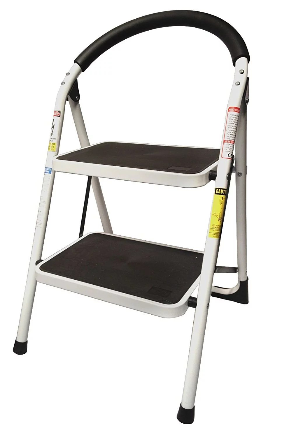 kitchen ladder corner shelving unit stepup heavy duty steel reinforced folding 2 step stool 330 lbs capacity walmart com