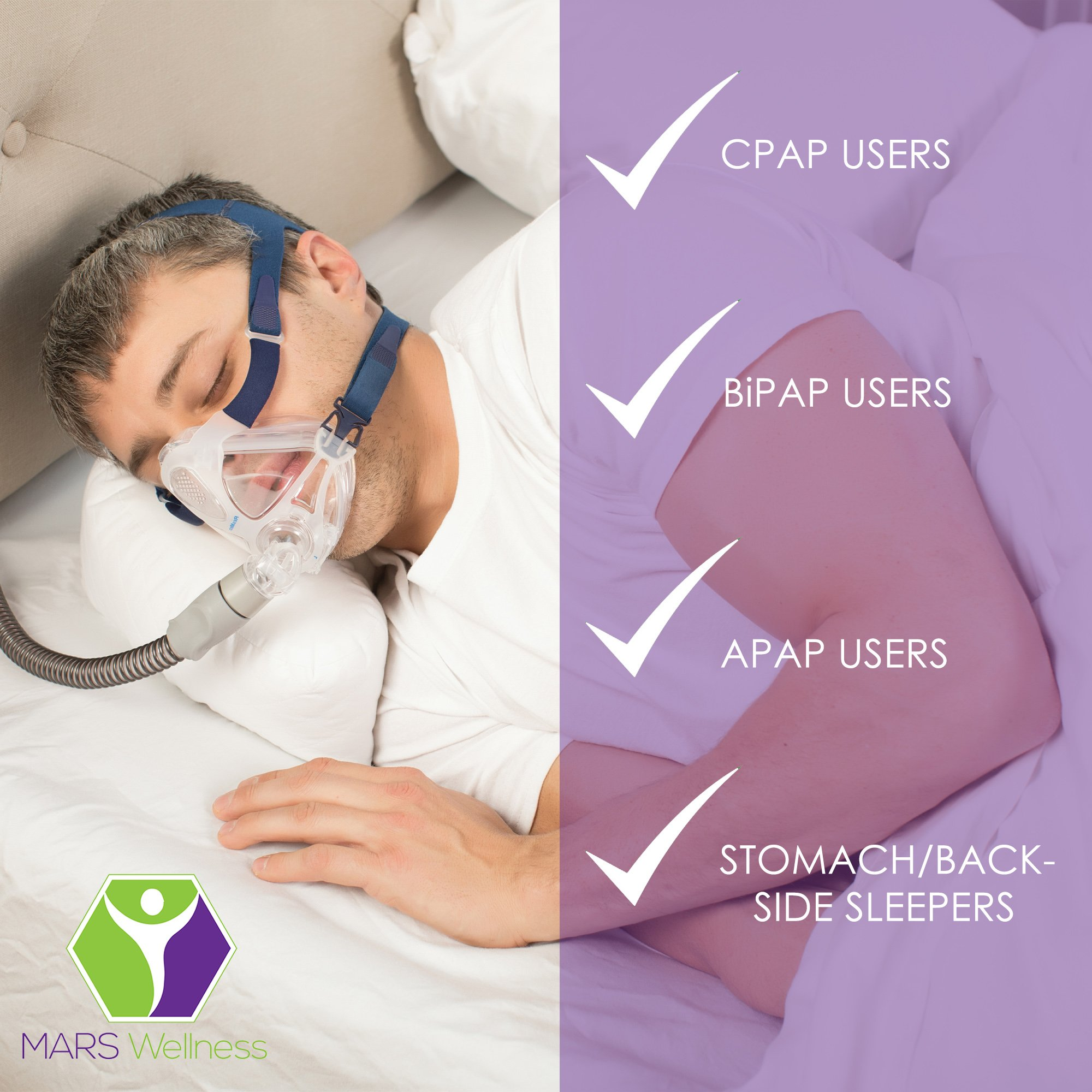new premium cpap pillow side sleepers sleep apnea memory foam free cover