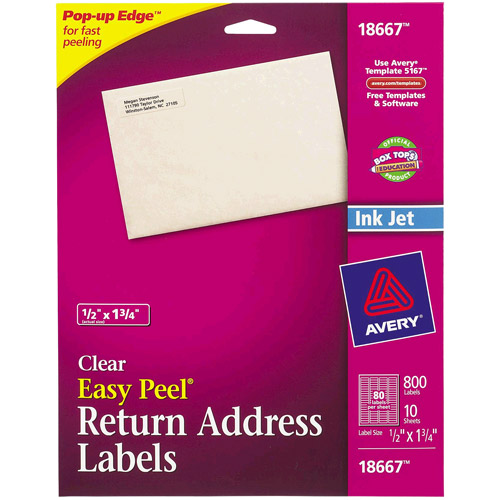 Avery Clear Return Address Labels  Walmartm