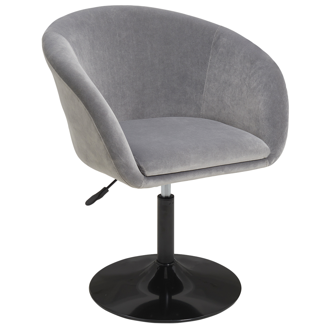 duhome makeup vanity chair accent chairs comtenporary lounge chair adjustable modern round tufted back swivel grey velvet