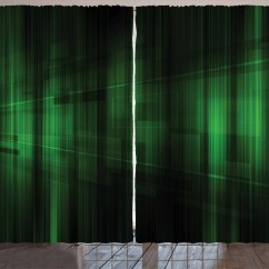Green Curtains For Living Room Latest Wall Units Designs Forest 2 Panels Set Vibrant Technology Pattern With Vertical Lines Digital Technical Themed