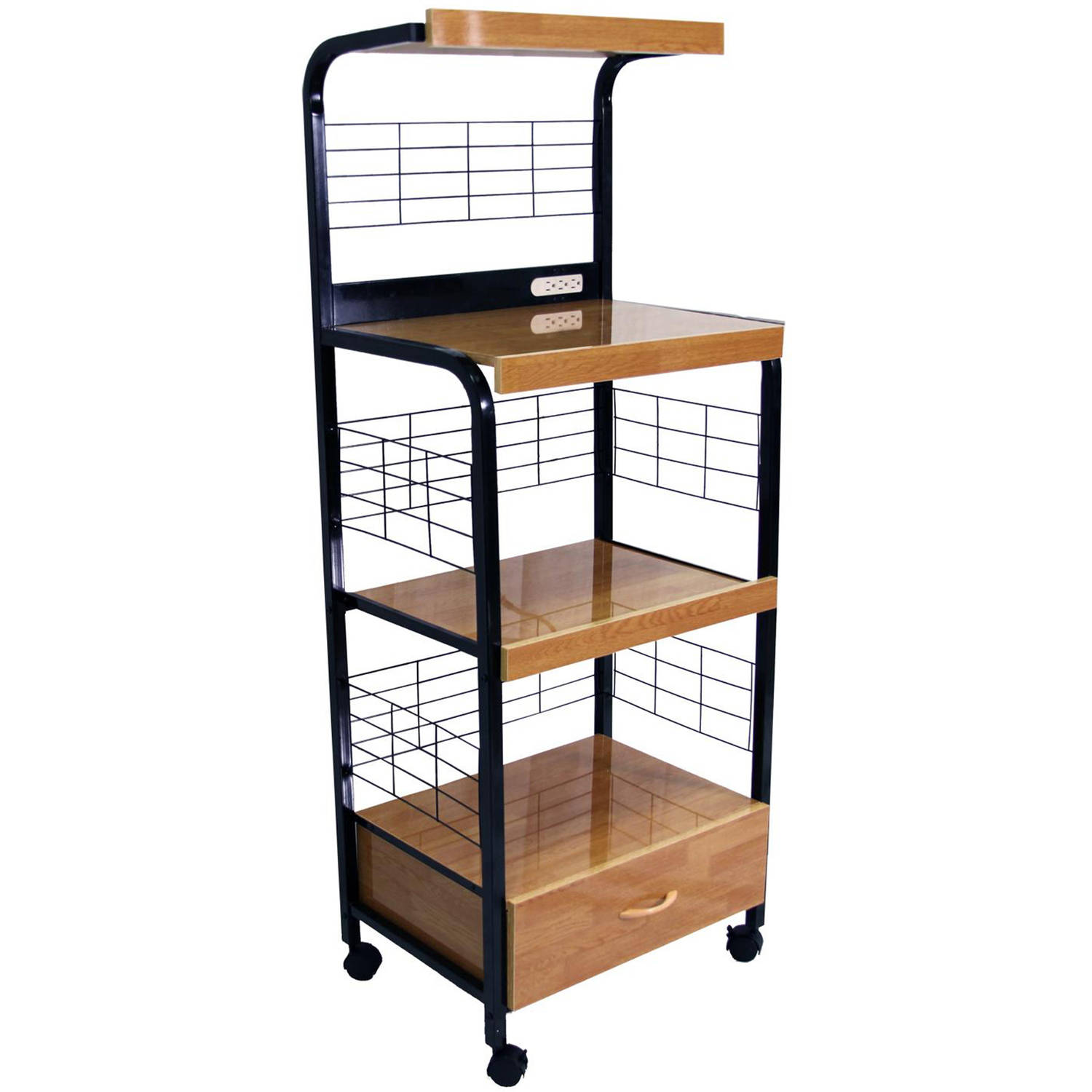 black microwave cart with outlet walmart com