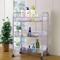 Kitchen Organizer Green Accessories Costway 3 Tier Storage Rack Trolley Cart Home Utility Baskets Sliver