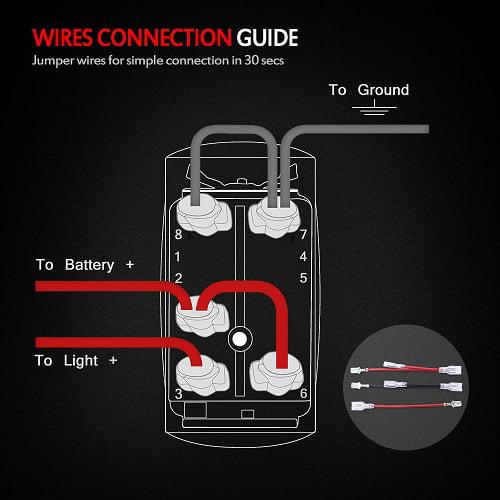 mictuning 5pin laser led light bar rocker switch 12v 20a on/off switch