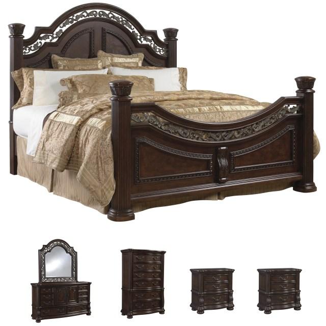 Sofaweb Tuscany 6 piece Mocha Finish King size Bedroom Set