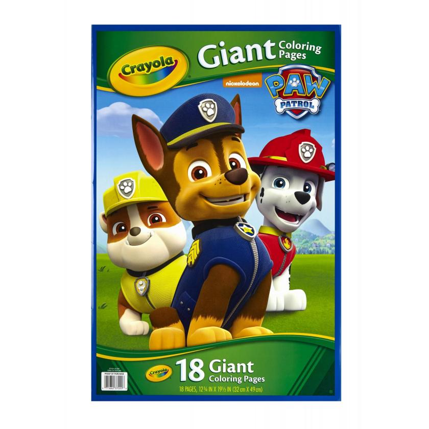 crayola giant coloring pages paw patrol and minions