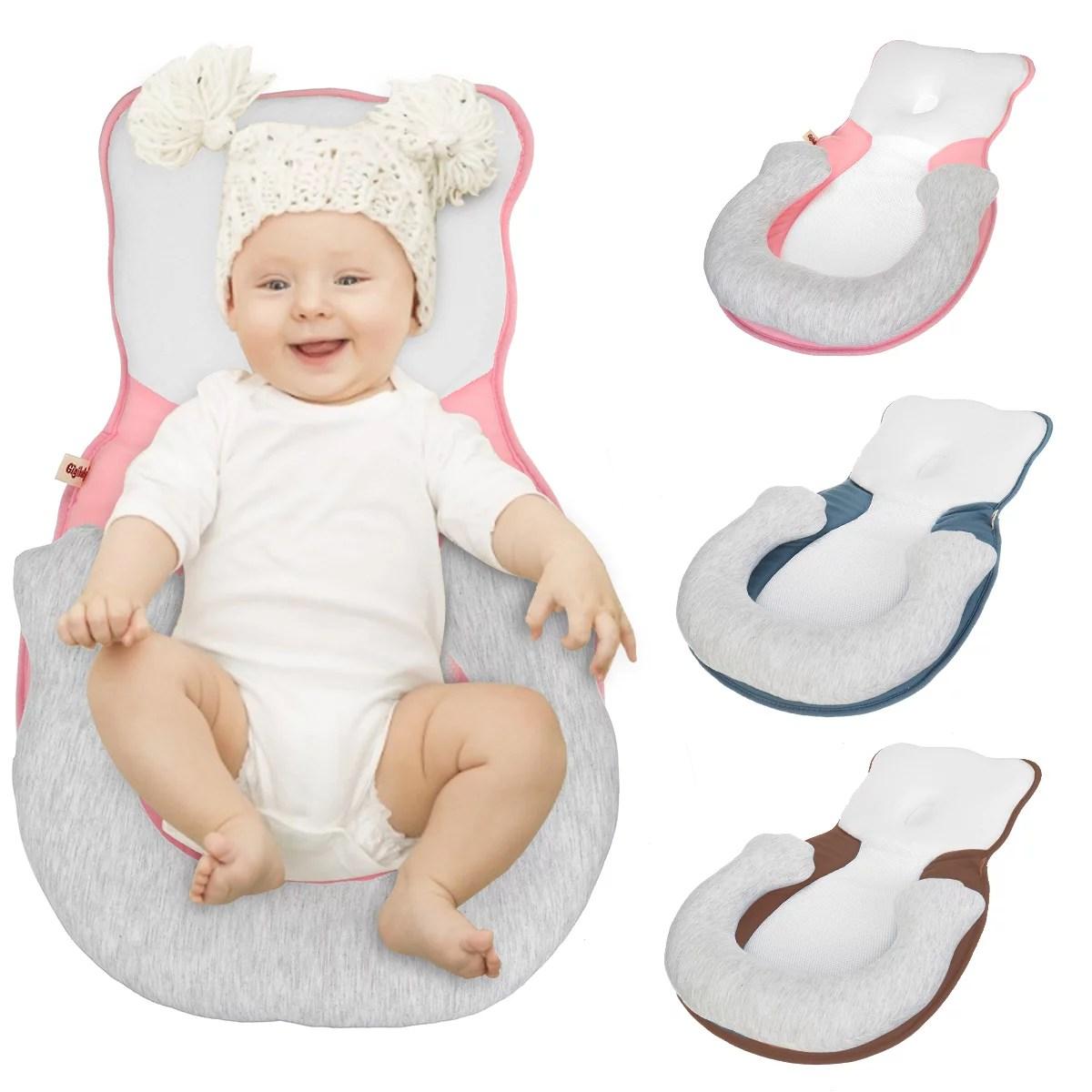 soft newborn baby infant sleep positioner prevent flat head shape anti roll pillow prevent flat head sleep mattress