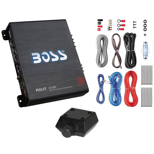 small resolution of rockford fosgate 500w subwoofer q power truck enclosure boss 1100w amplifier walmart com