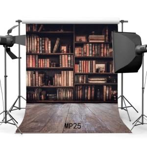 background bookshelf library backdrop study magic books bookcase wood interior floor grunge stripes polyester studio kid rustic hellodecor retro zoom