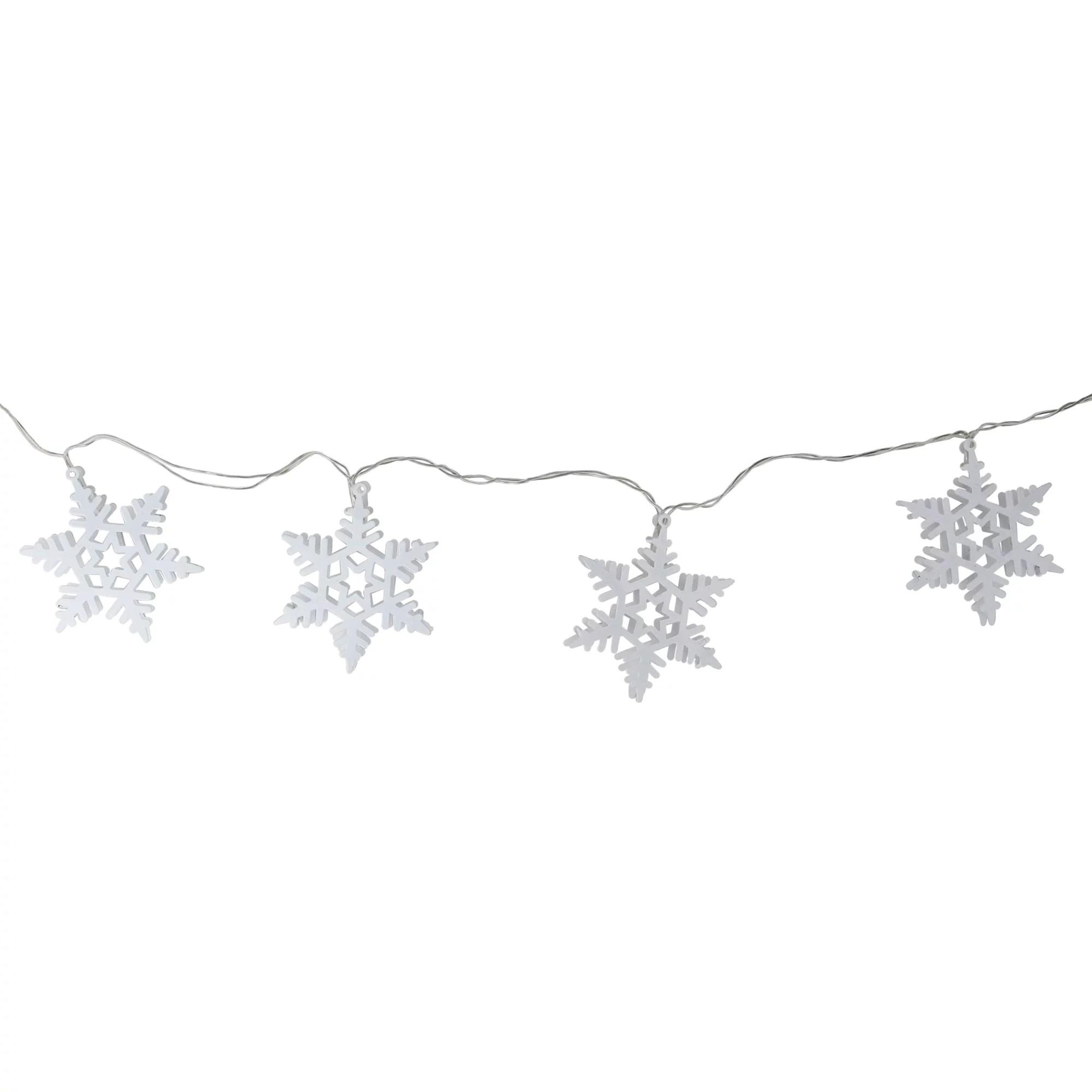 Ganz 10ct Battery Operated Snowflake Mini Christmas