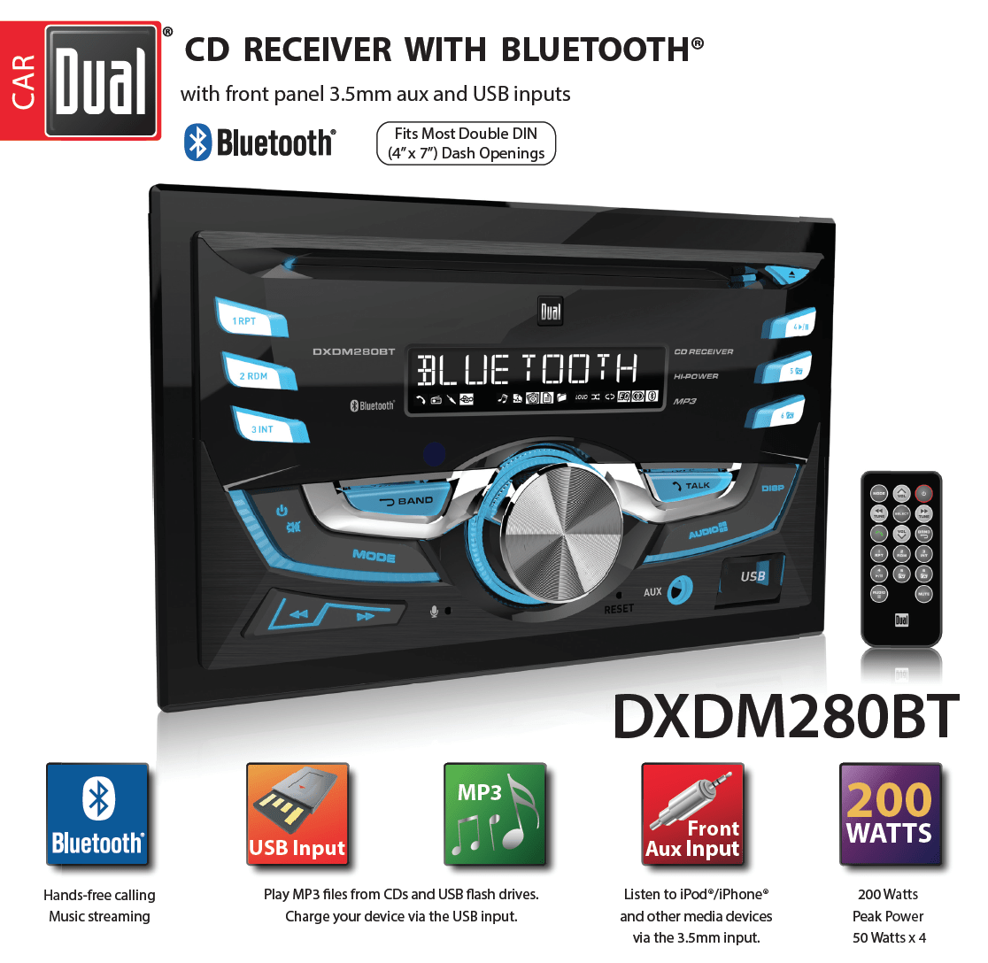 medium resolution of dual electronics dxdm280bt multimedia lcd high resolution double din car sound system installation diagram descargar gratis free mp3