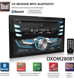 dual electronics dxdm280bt multimedia lcd high resolution double din car stereo receiver with built in bluetooth cd usb mp3 wma player walmart com [ 1116 x 1088 Pixel ]