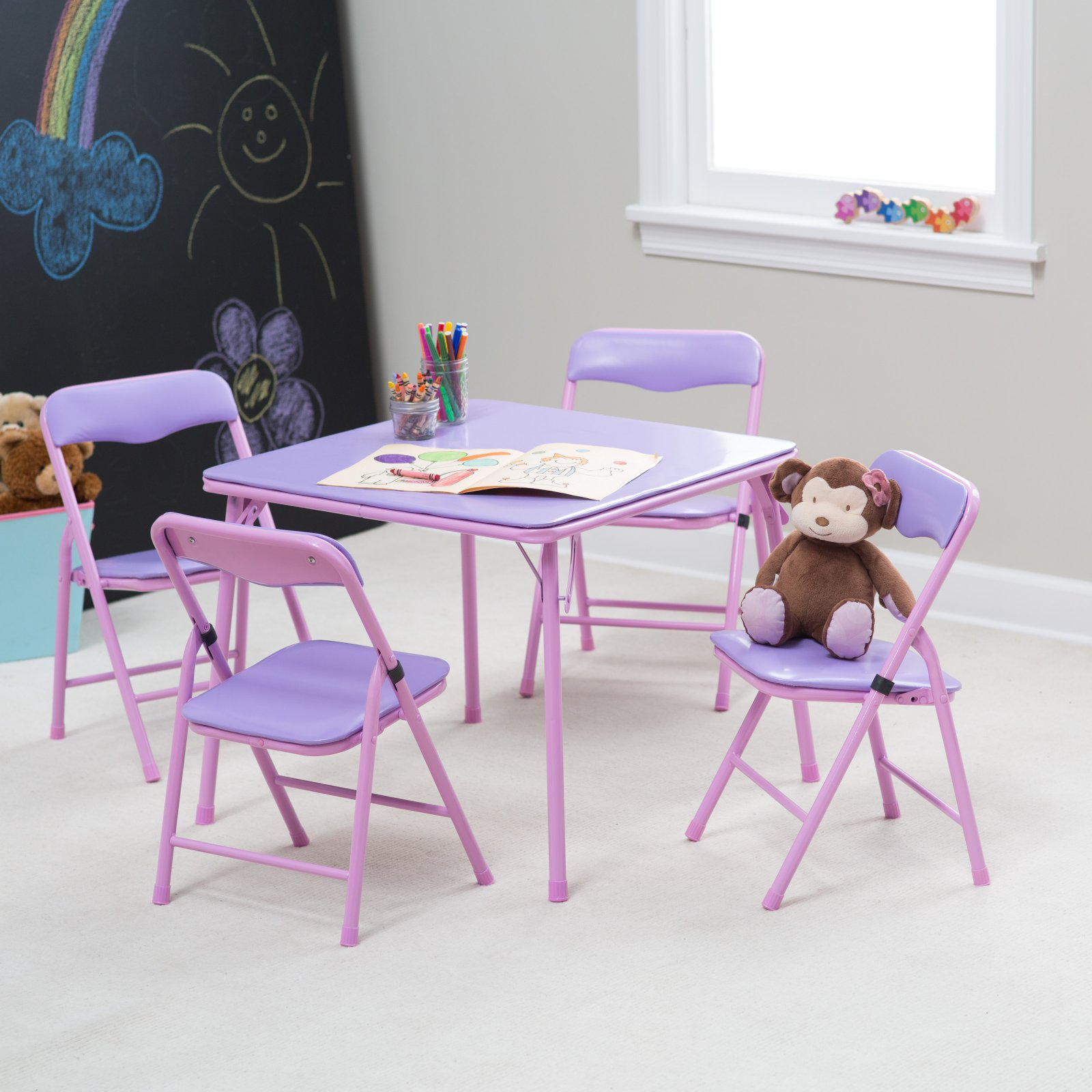 Childrens Folding Table And Chairs Showtime Childrens Folding Table And Chair Set