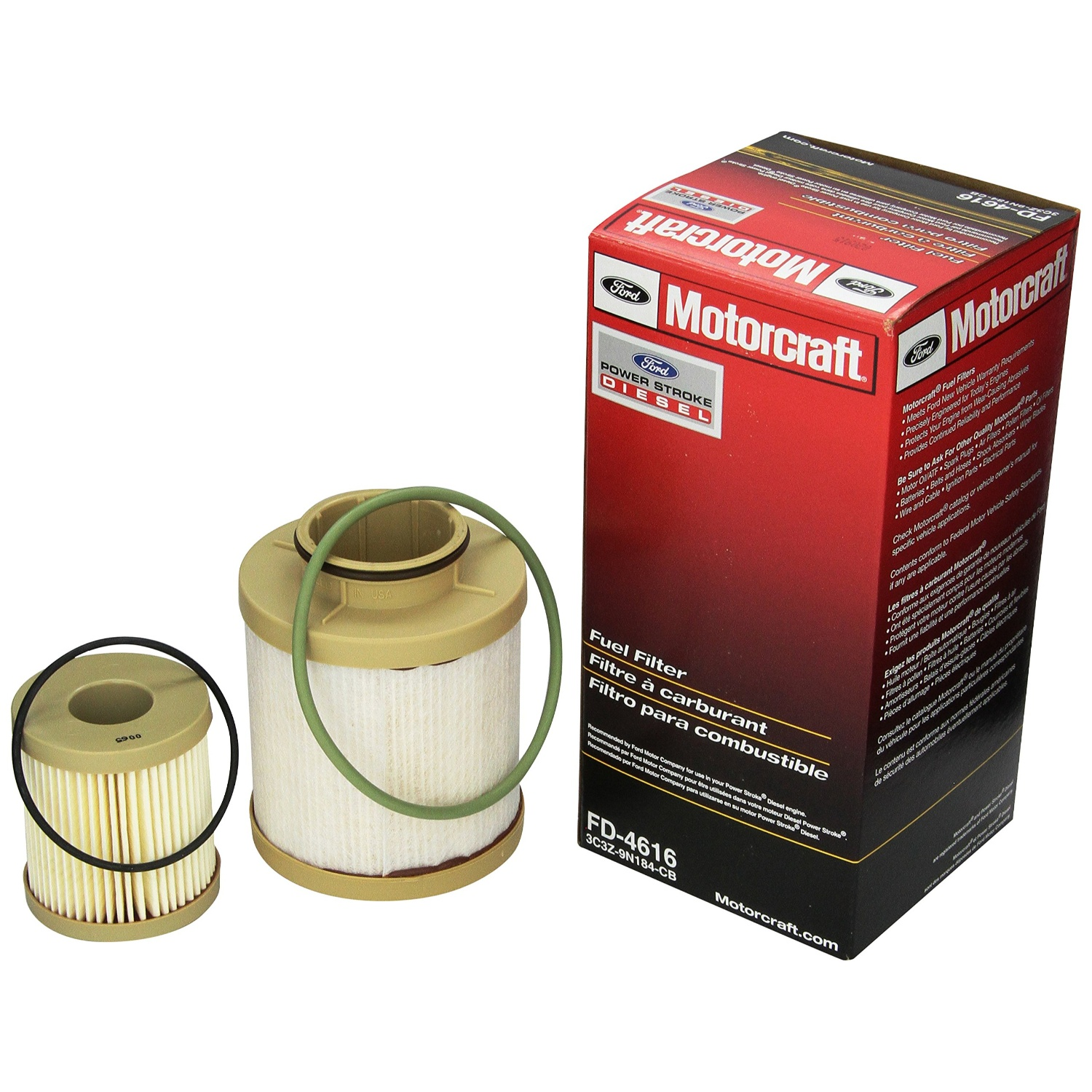 6.0L Powerstroke Fuel Filter Kit For 2003-2006 Ford F Series Replaces FD4616