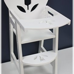 American Girl High Chair Upholstered Accent Chairs 18 Inch Doll Furniture Wooden With Lift Up Tray White Floral Fits Dolls Walmart Com